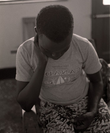 Mondiyo Munialeko, age 15, who along with her sister Aroyo Pamba, 17, was abducted by Lord Kony's LRA March 18, 2009. Mondiyo would be shot in the leg and her sister killed.