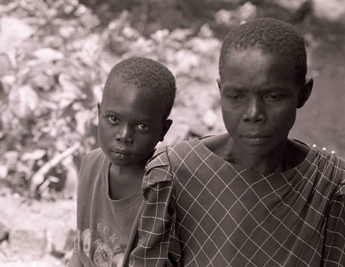Ngarimi Lado, 11 years old, with his grandmother. Lord Kony's LRA killed his grandfather and abducted him and his two sisters in May 2009. His sisters have not been seen since.